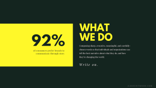 what we do as impact storytellers